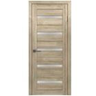 Межкомнатная дверь, полотно остекленное Дуб Мокко, размер 200 x 60 см